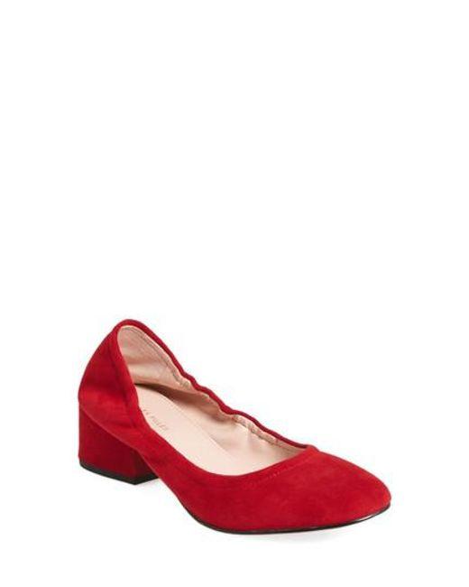 Avec Les Filles   Red Gigi Block Heel Pump   Lyst