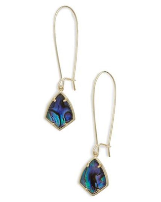 Kendra Scott   Metallic 'carrine' Semiprecious Stone Drop Earrings   Lyst