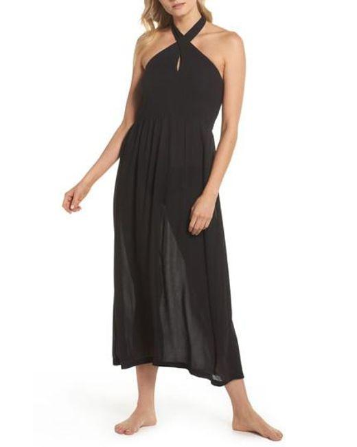 Lyst Echo Midi Tie Back Cover Up Dress In Black