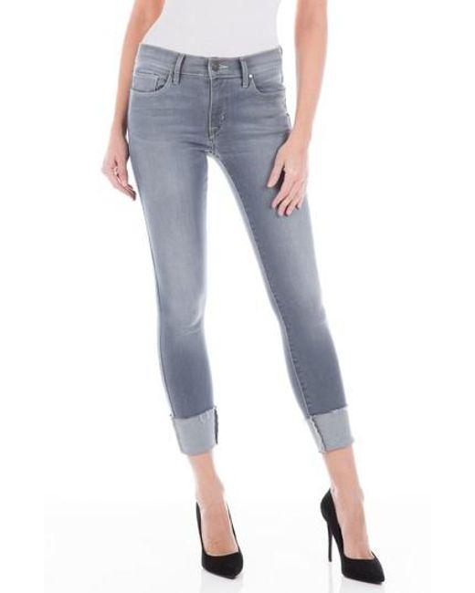 Fidelity - Blue Belvedere Crop Skinny Jeans - Lyst