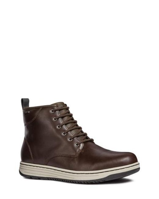 Geox - Brown Abroad Abx 2 Tall Waterproof Lace-up Boot for Men - Lyst