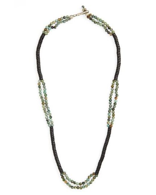 George Frost - Green Turquoise Bead Necklace for Men - Lyst