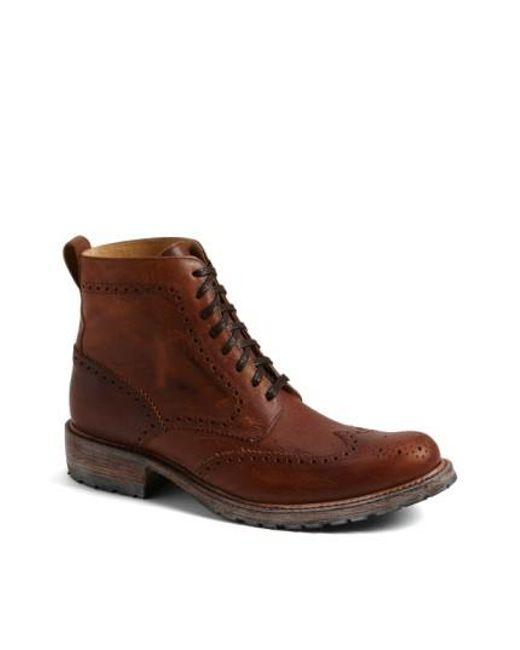 Sendra | Brown 'skye' Wingtip Boot for Men | Lyst