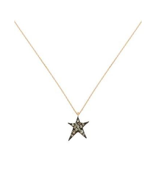 Kismet by Milka - Metallic Diamond Star Pendant Necklace - Lyst
