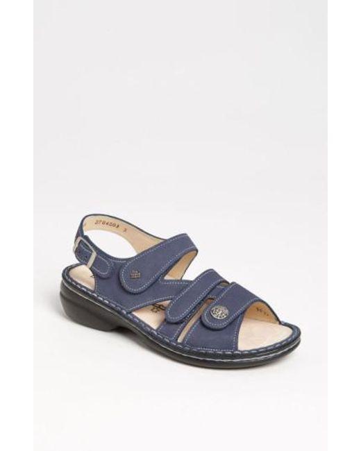 Finn Comfort - Blue 'gomera' Sandal - Lyst