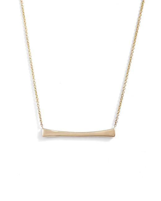 Bony Levy - Metallic Curved Bar Pendant Necklace (nordstrom Exclusive) - Lyst