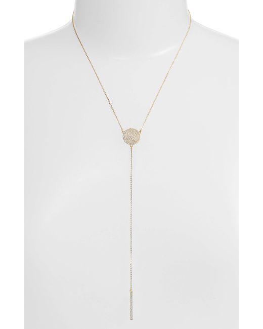 Melinda Maria - White Sydney Baye Lariat Necklace - Lyst