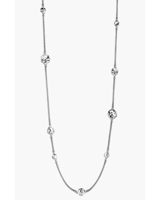 John Hardy - Metallic Dot Hammered Station Necklace - Lyst