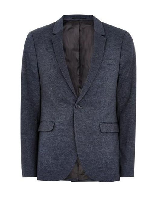 Topman - Blue Classic Fit Sport Coat for Men - Lyst