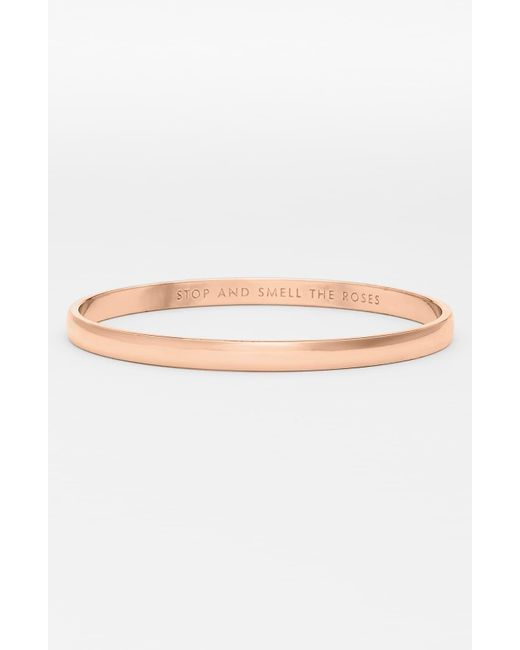 Kate Spade - Pink 'idiom - Stop And Smell The Roses' Bangle - Lyst
