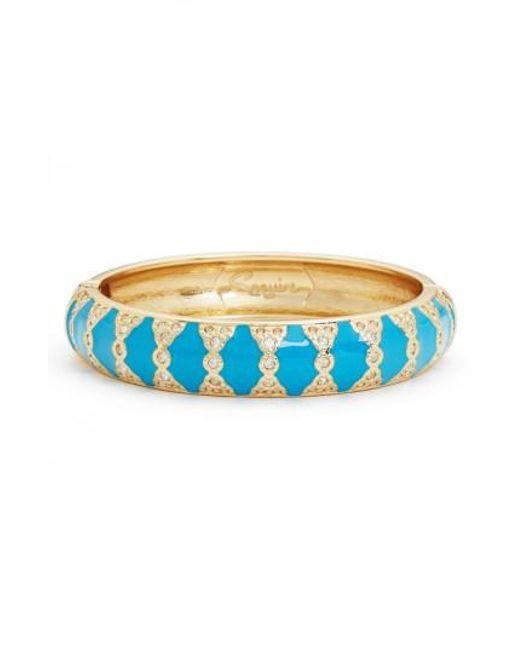 Sequin - Blue Moorish Embellished Bangle - Lyst