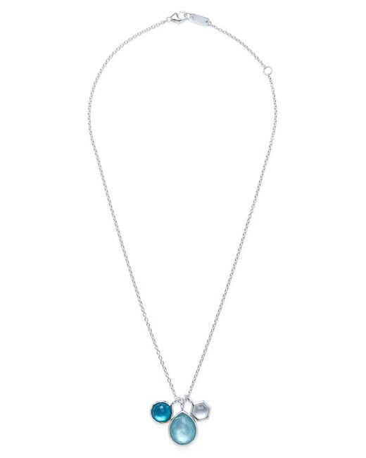 Ippolita - Metallic 'rock Candy - Wonderland' Semiprecious Stone Triple Pendant Necklace - Lyst