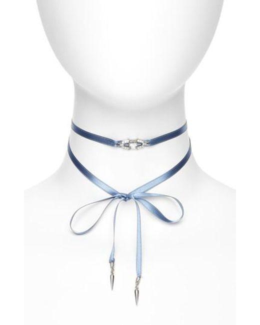 Ben-Amun   Blue Ben-amur Deco Wrap Choker Necklace   Lyst