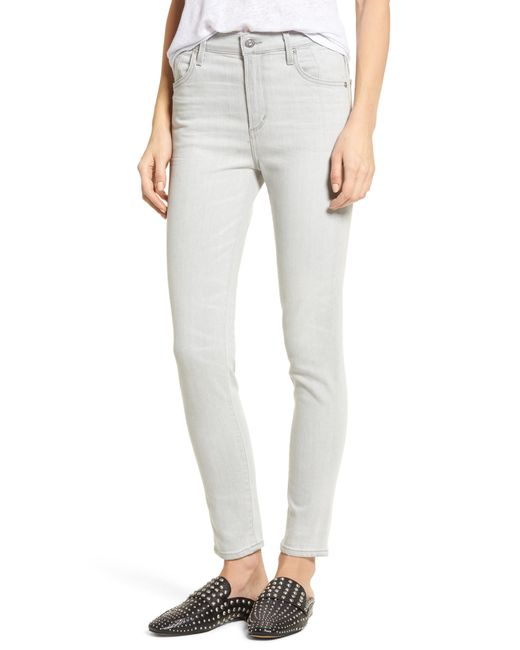 Citizens of Humanity - Blue Carlie High Waist Ankle Skinny Jeans - Lyst