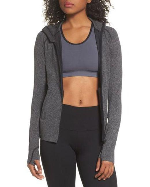 Zella | Gray So Sleek Jacket | Lyst