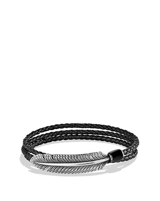 David Yurman - Frontier Feather Triple-wrap Bracelet In Black With Black Onyx for Men - Lyst