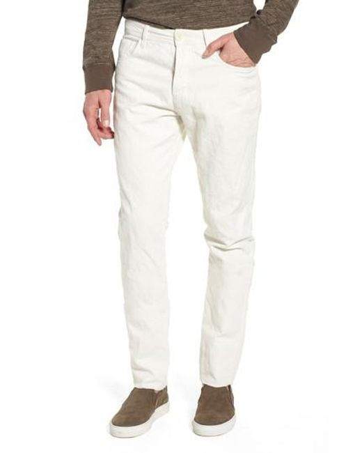 James Perse - White Slim Fit Twill Pants for Men - Lyst