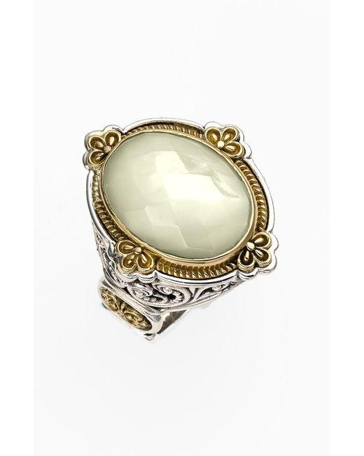 Konstantino - Metallic 'selene' Semiprecious Stone Ring - Lyst
