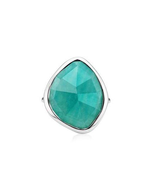 Monica Vinader - Gray Siren Nugget Semiprecious Stone Ring - Lyst