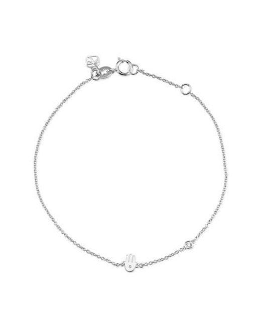 Shy By Sydney Evan | Metallic Hamsa Diamond Bracelet | Lyst