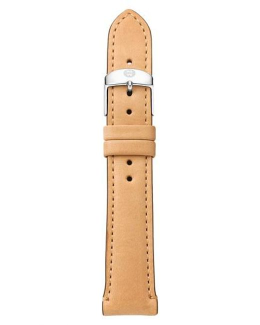 Michele - Brown 16mm Leather Watch Strap - Lyst