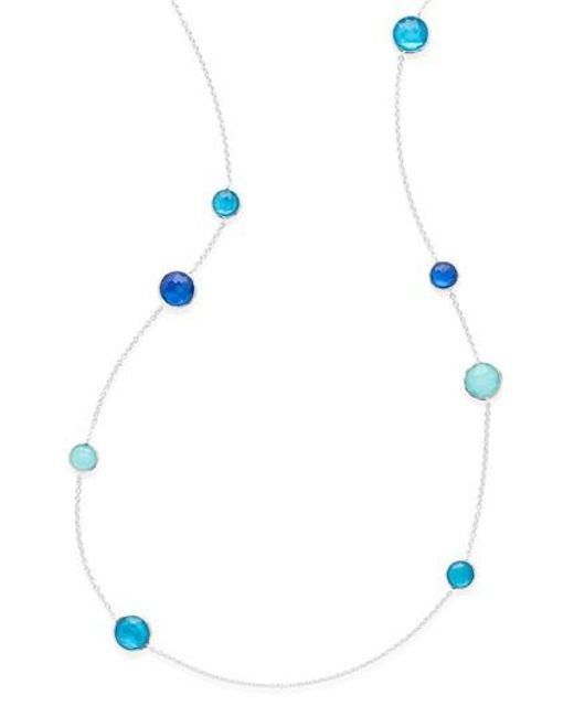 Ippolita | Blue Wonderland Station Necklace | Lyst