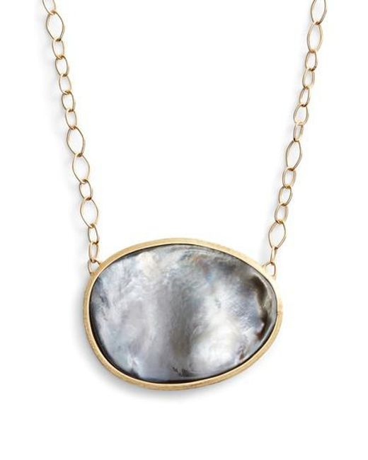 Marco Bicego - Gray Lunaria Mother Of Pearl Pendant Necklace - Lyst