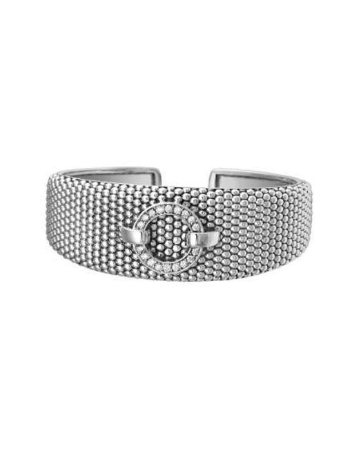 Lagos   Metallic 'enso - Circle Game' Diamond Caviar Cuff   Lyst