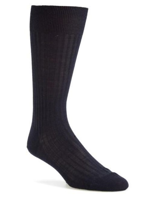 Pantherella - Blue Merino Wool Blend Socks for Men - Lyst