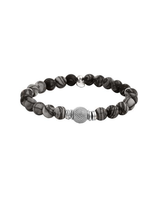 Tateossian - Black Stonehenge Bead Bracelet for Men - Lyst