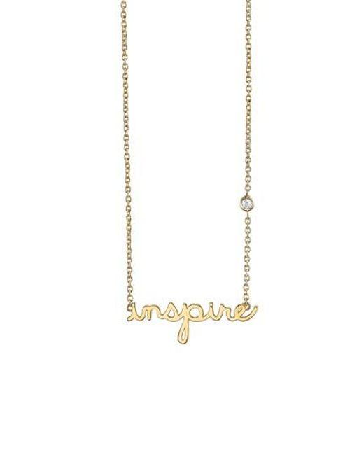Shy By Sydney Evan   Metallic Inspire Necklace   Lyst