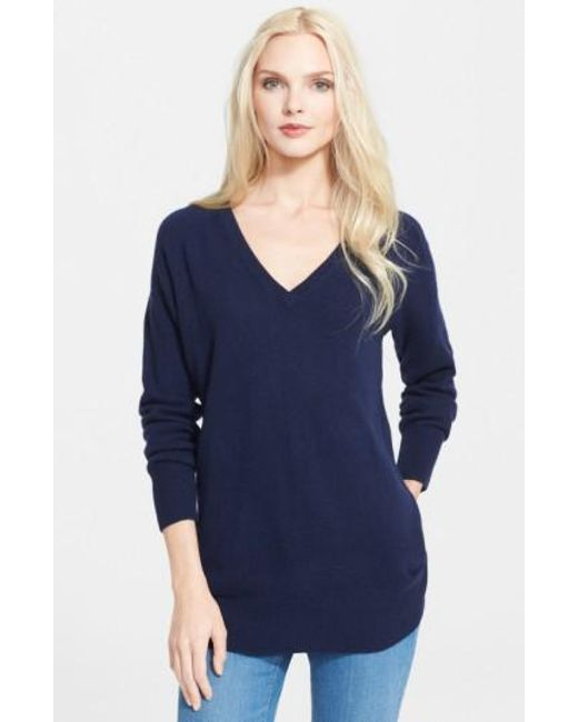 Equipment | Blue 'asher' V-neck Cashmere Sweater | Lyst