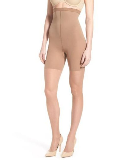Spanx - Orange Spanx Luxe High Waist Shaping Pantyhose - Lyst