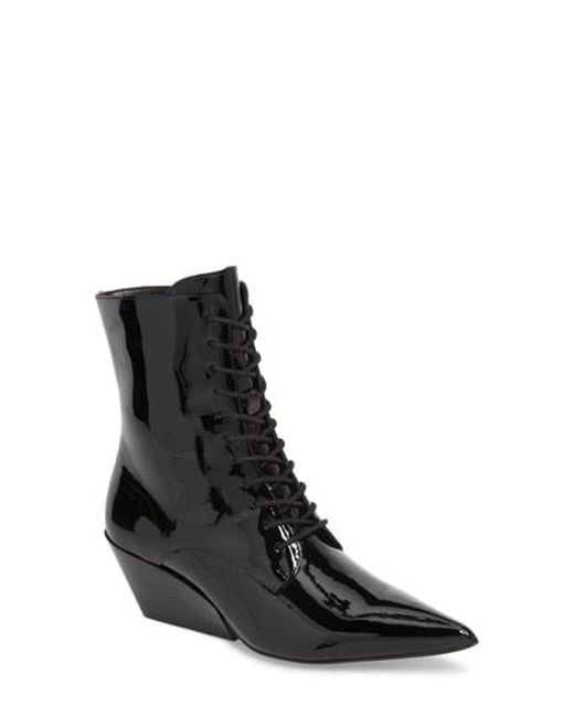 Calvin Klein Jeans - Black Faith Pointy Toe Laced Bootie - Lyst