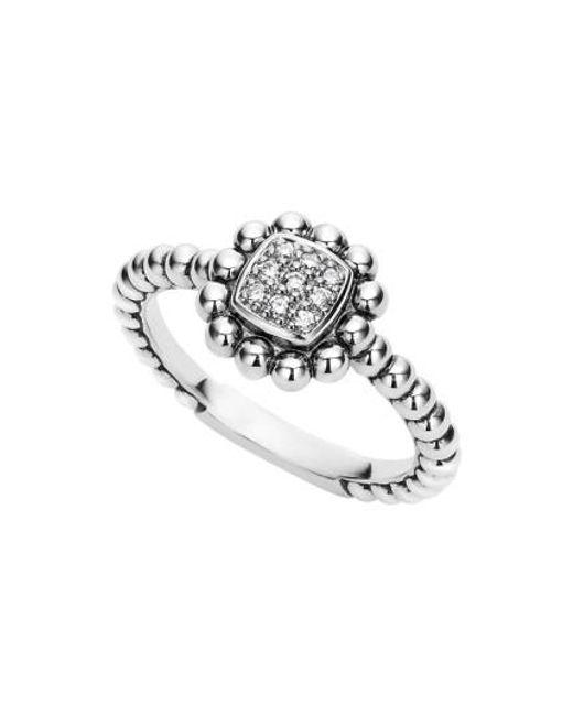 Lagos | Metallic Caviar Spark Diamond Square Ring | Lyst