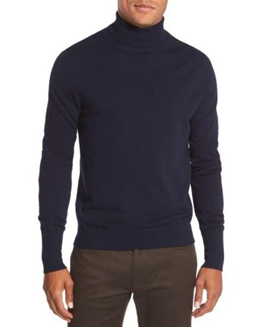 Vince Camuto - Blue Merino Wool Turtleneck for Men - Lyst