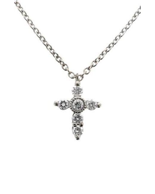 Bony Levy   Metallic Diamond Mini Cross Necklace (nordstrom Exclusive)   Lyst