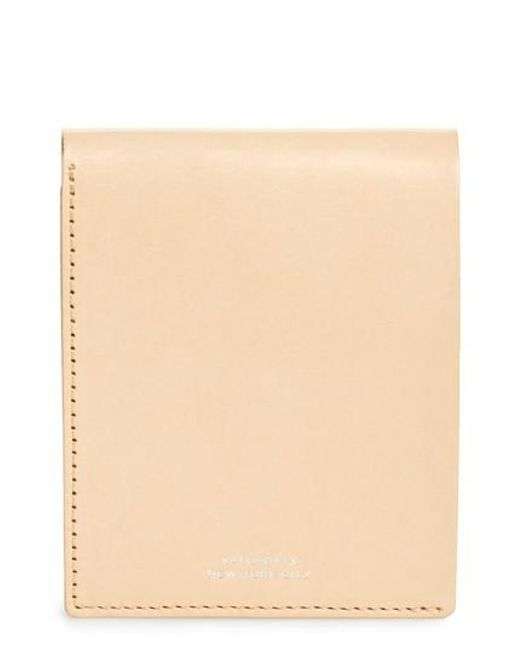 Saturdays NYC - Natural Bifold Leather Wallet for Men - Lyst