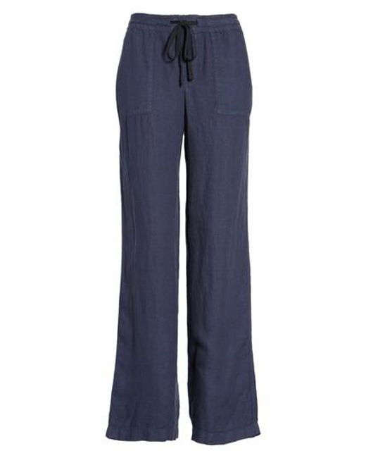 Caslon | Green Caslon Drawstring Linen Pants | Lyst