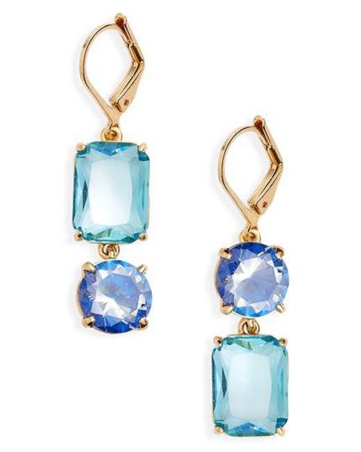 Kate Spade   Blue Kate Spade Shine On Mismatched Drop Earrings   Lyst