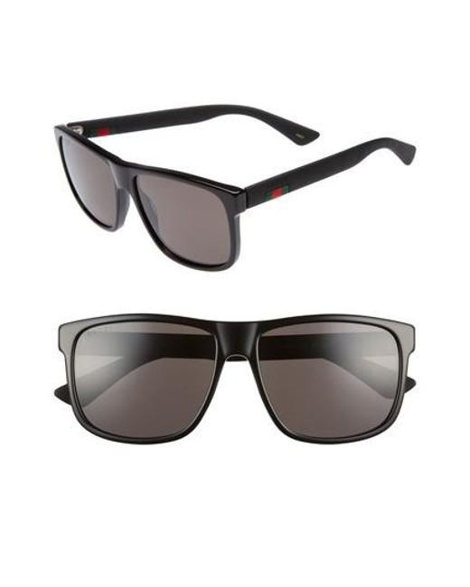 83a272cfdc0 Lyst - Gucci 58mm Sunglasses in Black for Men