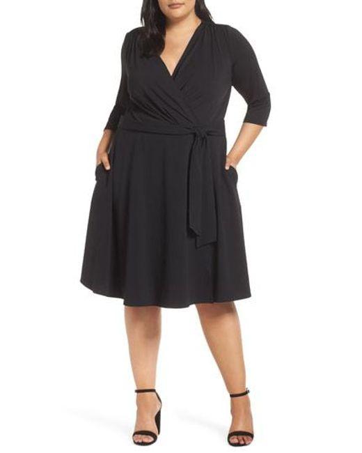 Eci - Black Wrap Dress - Lyst