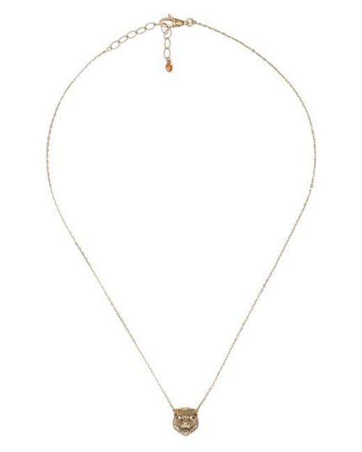 Gucci | Metallic Le Marche Feline Head Pendant Necklace | Lyst