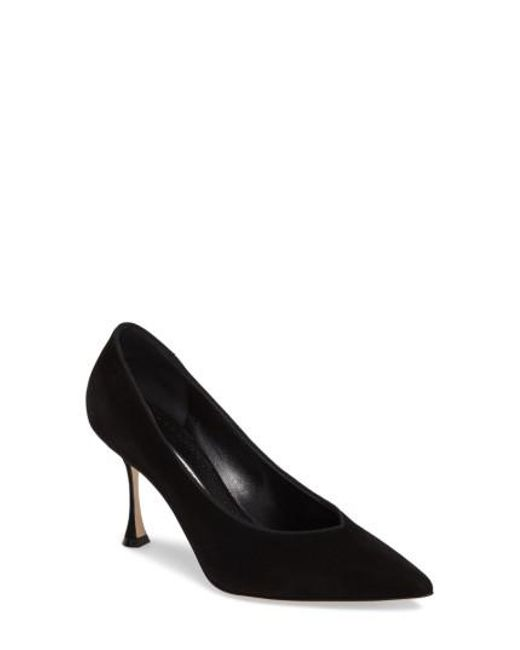 Manolo Blahnik - Black Urgenze Pointy Toe Pump - Lyst