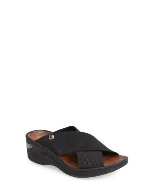 Bzees | Black 'desire' Wedge Sandal | Lyst