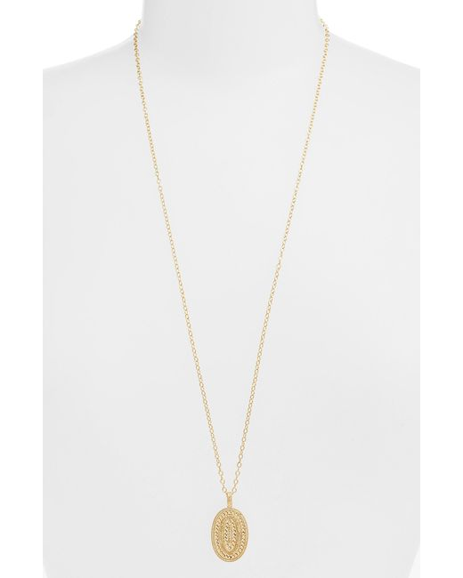 Anna Beck - Metallic Braided Pendant Necklace - Lyst