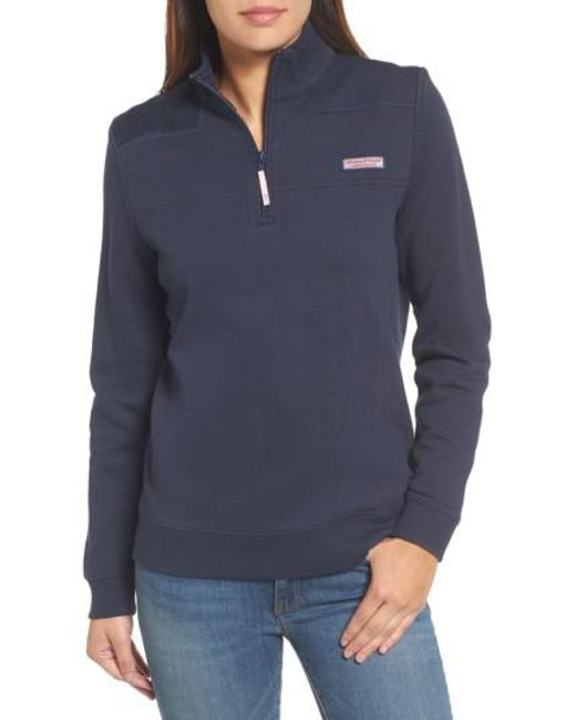 Vineyard Vines - Blue Shep Half Zip French Terry Pullover - Lyst