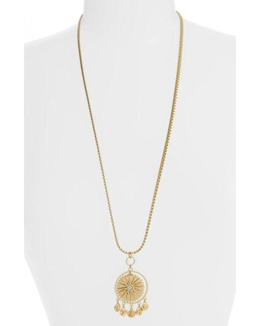 Vince Camuto - Metallic Charm Pendant Necklace - Lyst
