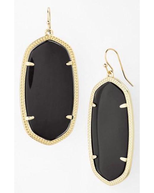 Kendra Scott | Metallic Danielle - Large Oval Statement Earrings | Lyst
