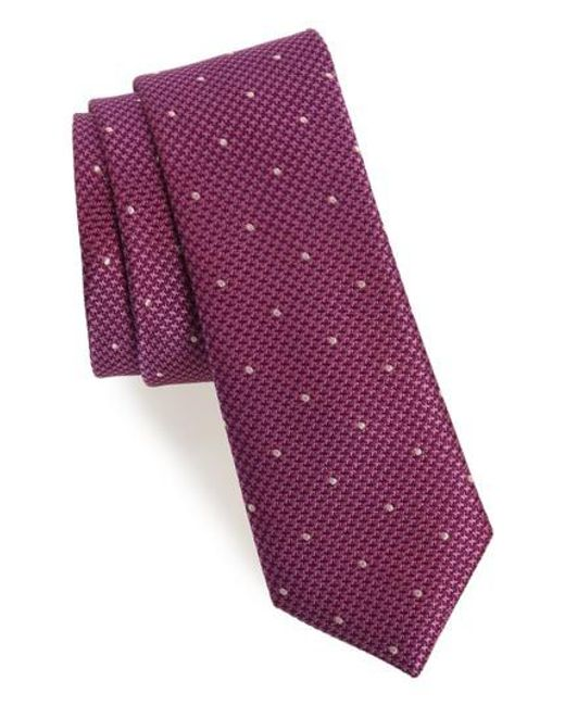 Calibrate | Purple Houndstooth Dot Silk Tie for Men | Lyst